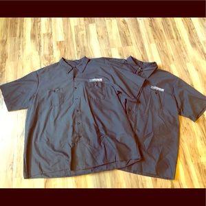 Set of 2 grey men's button down work shirts